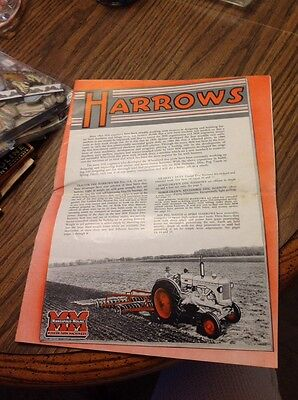 Minneapolis Horse Drawn Tractor Harrows Advertising Brochure Attractive