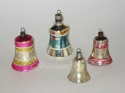 German Bell Antique Figural Glass USA Christmas Ornament Decoration 1930's