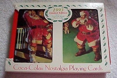 SEALED Coca Cola Nostalgia Playing Cards: 1993 Limited Edition-2 decks-coll. tin