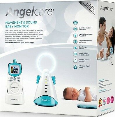 Angelcare AC401 Digital COLOUR Breathing Movement & Sound BABY MONITOR Alarm NEW