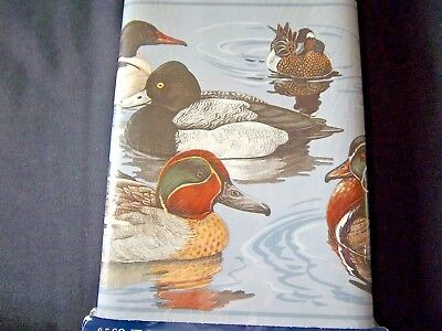 Ducks on Water Wallpaper Border Lot of 4  Rolls 5 yds each 20yds Total 6.83 in
