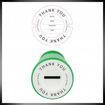 Charity Donation Collection Money Tin Pot Box Security Label -Seal -Sticker
