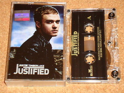 JUSTIN TIMBERLAKE - Justified -cassette tape album -Official Middle East edition