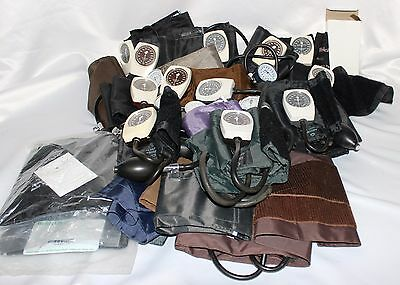 Large Lot of Sphygmomanometer and Cuffs - Tycos, Durr Medical, Durr Fillauer