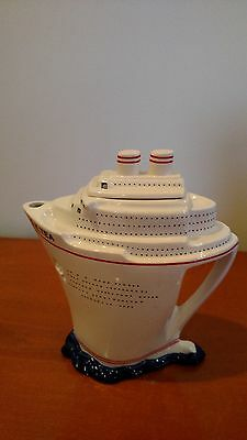 Paul Cardew Q.E. Tea Ship Teapot Ltd Edt, Numbered & SIGNED Rare Collectible
