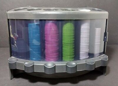 Casino Protocol Poker Chip Set 274 Chips dispenses 5 chips at a time