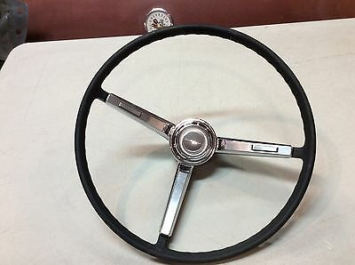 1966 1967 Chevy Chevelle  Steering Wheel Horn Ring and Button  (Original) Black