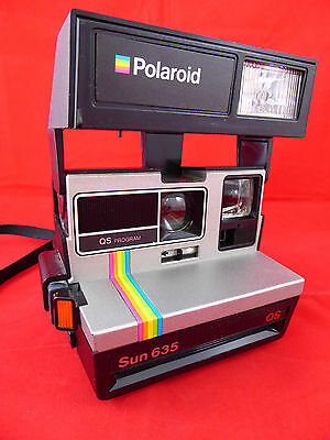 Vintage POLAROID SUN 635 QS Instant Camera *TESTED & WORKING*