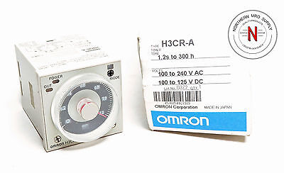 OMRON H3CR-A TIMER RELAY MODULE, 1.2sec-300hour, 100-240VAC, 5A CONTACTS