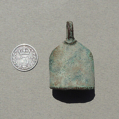 an ancient copper bell djenne mali #145