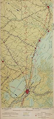 AIR NAVIGATION MAPS 1923-1935 UNITED STATES early aviation airport 76 ROUTES DVD