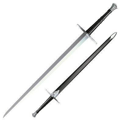 """NEW Cold Steel Hand-And-A-Half 33-1/2"""" Sword with Leather/Wood Scabbard 88HNH"""