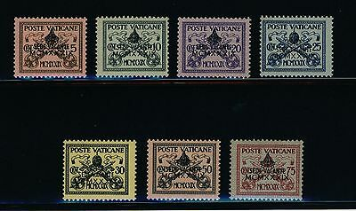 Stamps VATICAN 1939 Definitives - 61-67  MNH **