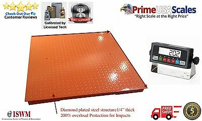 "NEW Floor Scale 48""X48"" (4'x4') NTEP Legal for trade 5000 X 1 lb / Indicator"