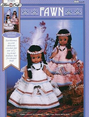 Fawn ~ Native American Air Freshener Doll Clothing, Fibre-Craft crochet patterns