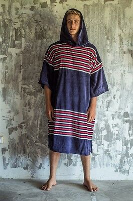 Towel TLS Poncho Adult Navy Stripes