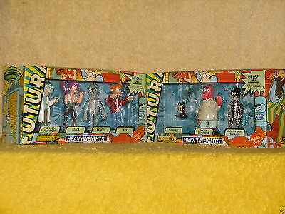 2007 Dark Horse FUTURAMA HEAVYWEIGHTS Die Cast Set Series 1 & 2 MIMB rare HTF