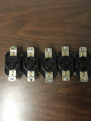 Hubbell L15-30R Receptacle - Quantity Of Five (5)