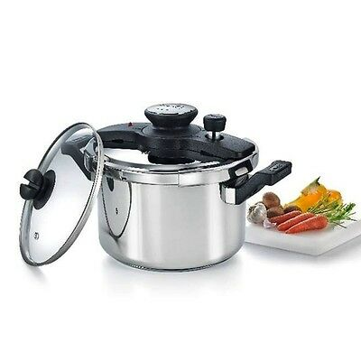 Stainless Steel Prestige Clip On Multi Cooker Pressure Cooker AU Stock Free Ship