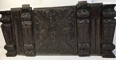 Rare Carved Oak 16th Century Coffer Elements Normandy Chest