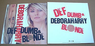 DEBORAH Debbie HARRY Blondie Def Dumb... 2 Sided Promo 12x12 Poster Flat 1989 M-