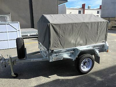 8x5 1000mm Heavy Duty Ripstop Canvas Trailer Cover