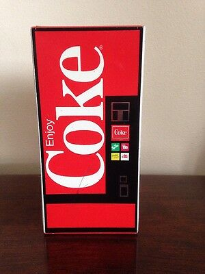 Coca Cola Bank Tin Litho Coke Vending Machine Vintage Coin Handkerchief Case