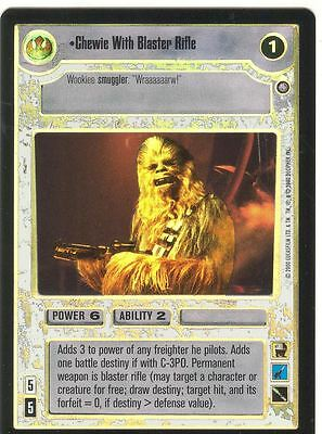 Star Wars CCG Reflections II Foil Chewie With Blaster Rifle