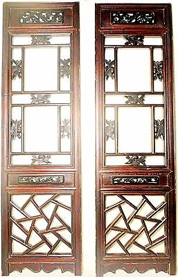 Antique Chinese Screen Panels (2531) (Pair) Cunninghamia Wood, Circa 1800-1849