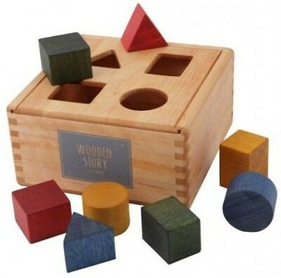 Wooden Story Shape Sorting Box