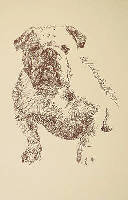 ENGLISH BULLDOG DOG ART Kline Print #185 Your dogs name added free. GREAT GIFT