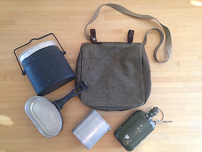 Swiss WWII Mess kit MZ 1942 / Canteen with Cup / Bread Bag 1943