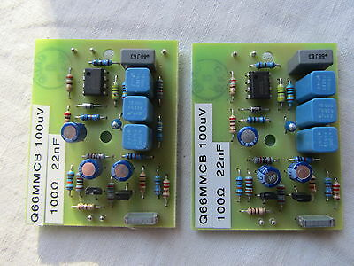 QUAD 66 pre amp MC Moving Coil 2x module boards 100µV 22nF MC stereo phono pair