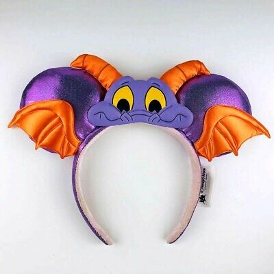 Walt Disney World Epcot Figment Purple Dragon Mickey Minnie Ears Headband NEW