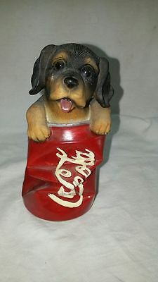COCA-COLA Squished Can With Dog Climbing Out