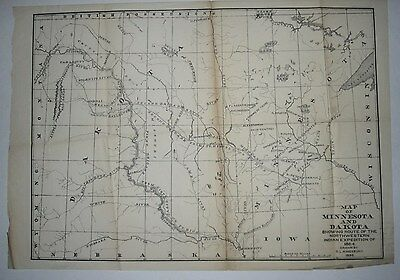 1898 D.l. Kingsbury Map - Route Of The Northwestern Indian Expedition Of 1864