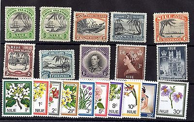 Niue KGV/QEII 1932/69 Collection Of 20 Values Mint (Except 1) MH X6315