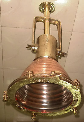 Rare Vintage Marine Ship Spot Light Copper & Brass Set Of 1 Piece