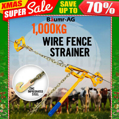 BAUMR-AG Wire fencing Strainer Fence Repair Tool Plain & Barbed Chain Gripple