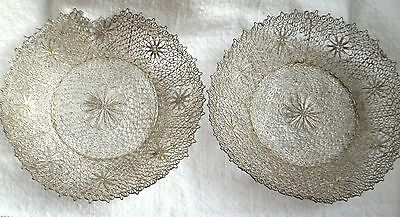 Rare 19Th Century China Chinese Solid Silver Filigree Export Plates Dishes