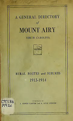 MT MOUNT AIRY  North Carolina 7 vintage old CITY DIRECTORY genealogy research