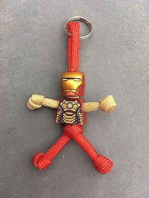 LEGO Marvel Ironman PARACORD BUDDY keyring - HAND MADE IN UK
