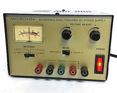 Micronta 22-121 Adjustable Dual-Tracking DC Power Supply 0-15VDC/ 120V 1A