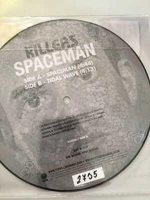 """The Killers - Spaceman - 7"""" EU Picture Vinyl 45 - New Numbered Limited 2735"""