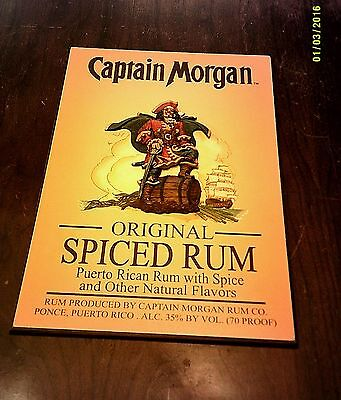 "Wall Plaque Captain Morgan Spiced Rum 3D Raised 19"" X 13"" Wood Sign Decor"