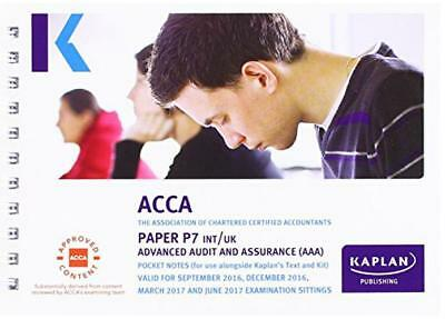 ACCA P7 Advanced Audit and Assurance (International and UK) - Pocket Notes (Acca