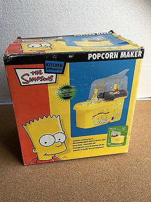 NEw in Box RARE The Simpsons POPCORN MAKER 2006 pop corn machine bart homer crus