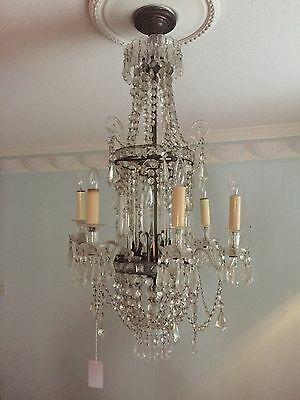 Antique Crystal Chandelier Louisiana Hotel vintage one of a kind valued at $6000