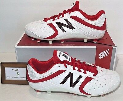 New Balance Womens Size 10 Brine Low White Red Lacrosse Shoes Rare