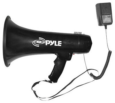 NEW Pyle Pro Megaphone with Siren and 3.5mm Aux Input PMP43IN